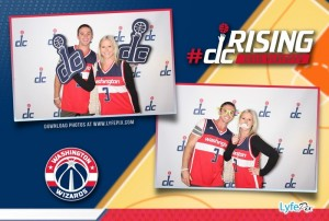 Photo booth picture from Washington Wizards 2015 Playoff game taken at the Verizon Center in Washington D.C.