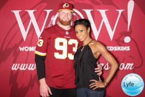 Photobooth picture from the Redskins WOW event taken in Washington DC
