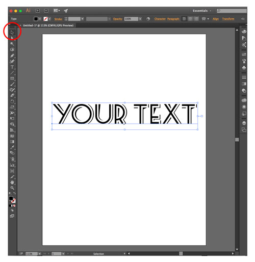 Font selection in Illustrator
